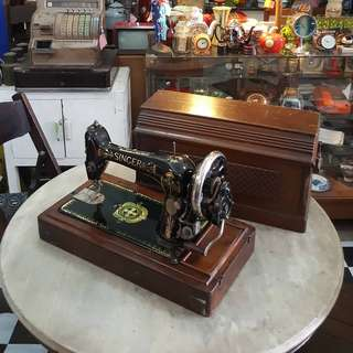Antique Singer Hand Crank Sewing Machine