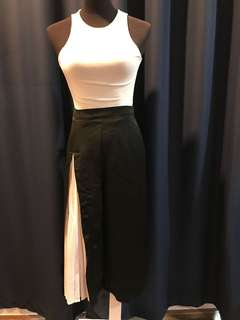 Culottes with slit