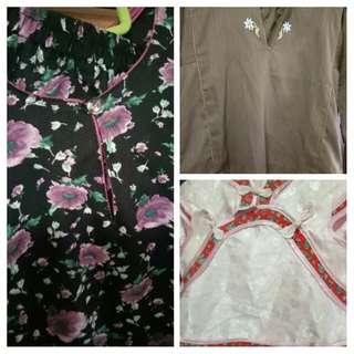Baju Kurung 2sets & 1set Qipao = $7