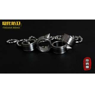 Outdoor Self Defense Knuckle Ring Weapon / Cincin Bela Diri - Silver