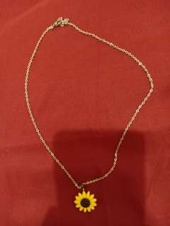 Sunflower Necklace Stainless Steel