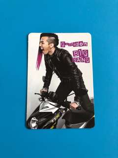 (包郵) G-Dragon Big Bang Yes卡 / Yes Card