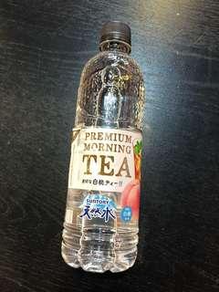 Suntory premium morning tea 透明白桃茶
