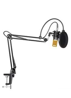 READY STOCK Neewer Professional Studio Broadcasting Recording Condenser Microphone & NW- 35 Adjustable Recording Microphone Suspension Scissor Arm Stand with Shock Mount and Mounting Clamp Kit