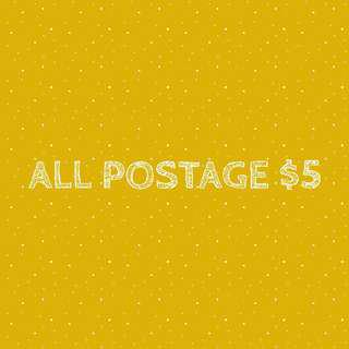 ALL POSTAGE ONLY $5