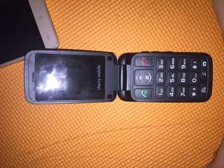 Cherry mobile flip phone with box like new