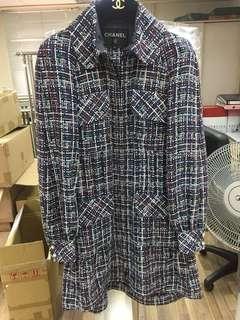 Chanel tweed cc logo Jacket Sz 34