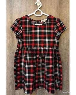 Blue Zoo plaid dress (used once at Xmas), size 4 yrs