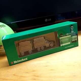 💓 限量版 ! 喜力啤酒 全港抽獎 啤酒運輸貨車 模型 一盒 Heineken