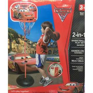Cars 2in1 basketball play set