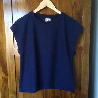 Dark blue sleeveless top