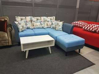 Sofa minomalis motif keren bisa kredit