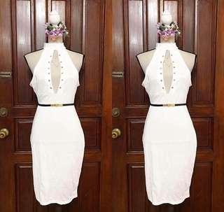 White Bodycon Sexy Dress