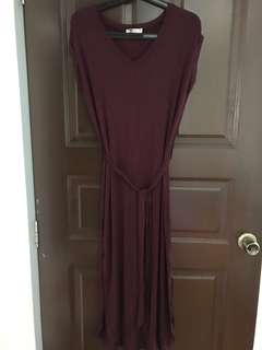 Wine/Navy Color maternity dress
