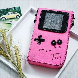 Handmade Bags~Vintage Camera Felt Bags, Shoulder, Crossbody, Handle, Cosmetic Handbags/Pouches, Coin Purses/Totes/Wallets/Storages~Game Boy Bags #GBB008