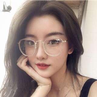 🚚 instock transparent frame fake specs spectacles glasses