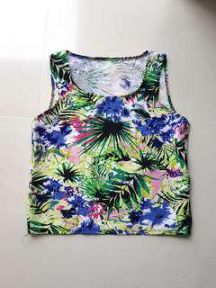 🚚 Summer Tropical Cropped Tank Top