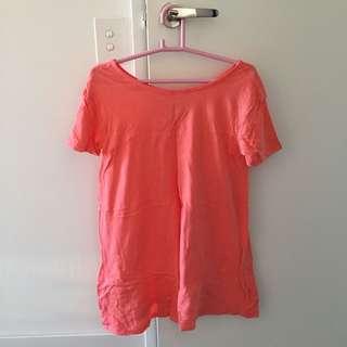 Supre Neon Orange Tee dress