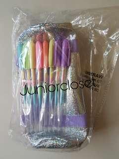 [Juniorcloset] 🆕 Mini carry bag pencil case + 8 rainbow gel pens (Australia direct)