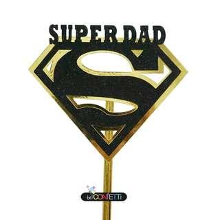 Super Dad / Mom Cake Topper