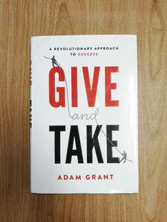 Give & Take by Adam Grant [HARDCOVER]