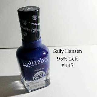9.5/10 Sally Hansen Dark Blue Colour Gel Nails Polish Finger Fingernails Toes Manicure Pedicure Care Sellzabo #445