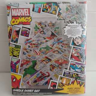 MARVEL COMICS - Reversible Duvet Set Single