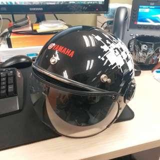 Yamaha 電單車西瓜皮頭盔 連風鏡 (超型 男女合用)