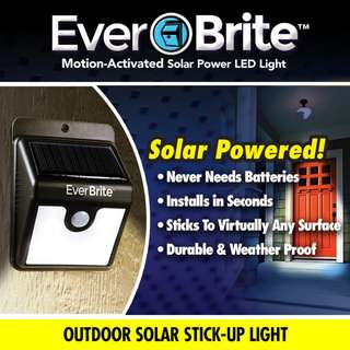 GV Ever Brite Solar Powered Motion Activated LED Light