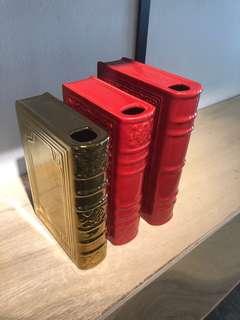 Ceramic Bookends/ Vases