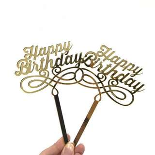 Happy Birthday Cupcake Topper 7x8CM