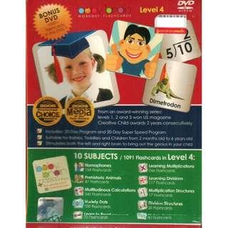 Baby Brain Workout Flashcards Level 4 DVD
