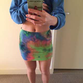 Asos tie dye skirt