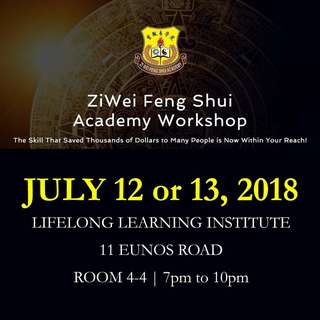 3 Hours ZiWei Feng Shui Introductory Workshops