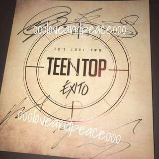 Teen Top 親筆簽名 cd