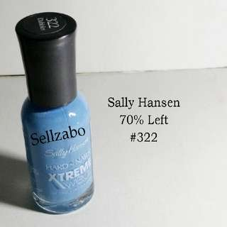 7/10 Sally Hansen Blue Colour Extreme Wear Nails Polish Finger Fingernails Toes Manicure Pedicure Care Sellzabo #322