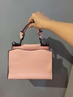 new! import baby pink handbag / slingbag