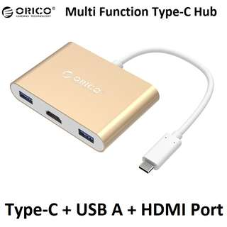 Orico RCH3A Type-C Hub to USB-A USB 3.0 + HDMI  Power Delivery Macbook Pro Surface Pro