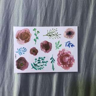 Water Colour Temporary Tattoo