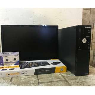 lenovo intel core i3 4th gen 500 gb hdd and 22 led monitor