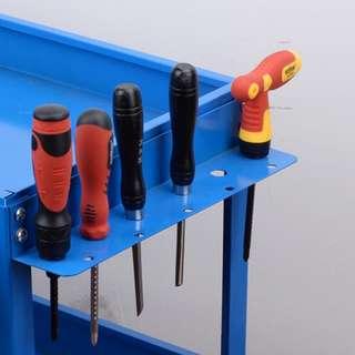 Tool car auto repair factory repair special tools thick three-layer hand push parts car multi-function mobile car toolbox