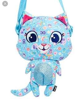 Smiggle blue cat shoulder/sling bag for girls