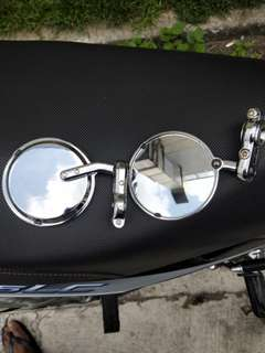 Bar end chrome side mirror