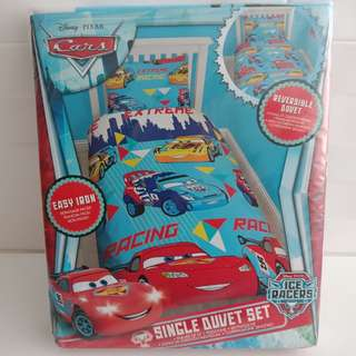 DISNEY PIXAR CARS - Reversible Single Duvet Set