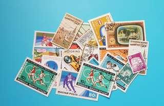(包平郵)已蓋銷郵票21張