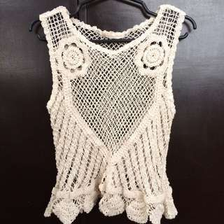 Lace top / coverup