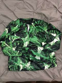 Floral Green Blazer
