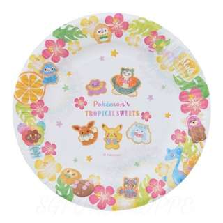 [PO] PAPER PLATE SET [TROPICAL SWEETS] - POKEMON CENTER EXCLUSIVE