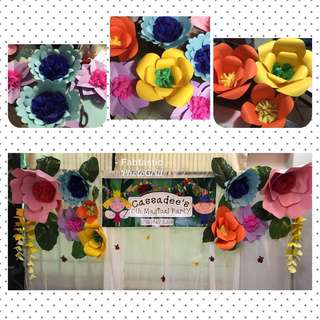 Paper Flowers for backdrop/decor
