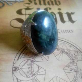 Black Jade Ring Stone